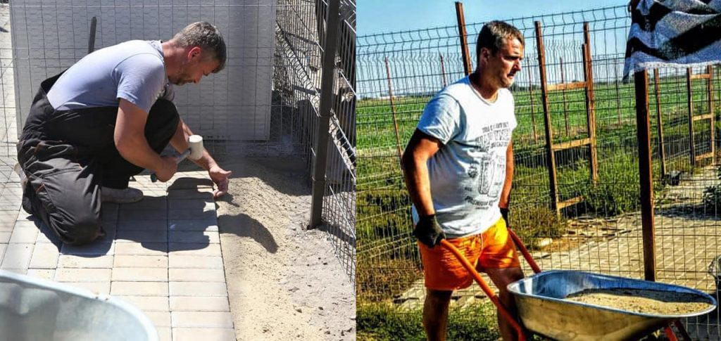 Working hard to build a new space for Romanian rescue dogs.