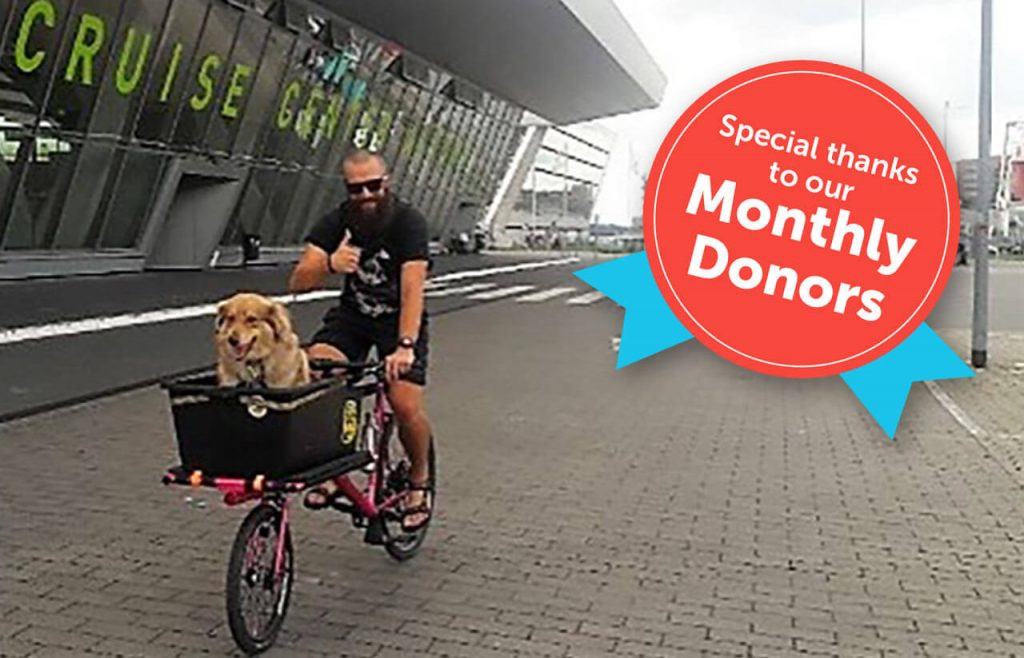 Romanian rescue dog now enjoy bicycle ride with her new family!